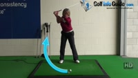 Cause and Cure, Women Golf Tip - To Get Correct Ball Height You Need to Hit Down Video - by Natalie Adams