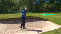 Chipping The Ball From A Long Greenside Bunker Shot Video - by Pete Styles