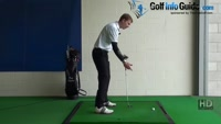 Thin Golf Shot Drill 4: Club over shoulders handle and club face to ball Video - Lesson by PGA Pro Pete Styles
