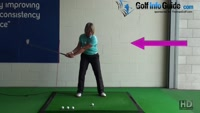 Correct Golf Swing Weight Shift Takeaway and Downswing, Women Golfer Tip Video - by Natalie Adams
