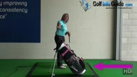 Correct Plane With Stand Bag  Golf Swing Drill Tip for Women Video - by Natalie Adams