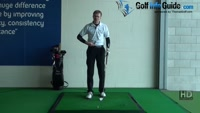 Credit card next to ball to check alignment, Golf Video - by Pete Styles