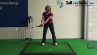 Cut Down On Your Golf Backswing Sway for More Power, Women Golfer Video - by Natalie Adams
