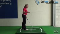 Golf Knee Flex, How Much Should I Have During My Set Up To The Golf Ball? Video - by Natalie Adams