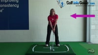 Golf Setup, Should I Lock My Right Arm? Video - by Natalie Adams