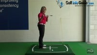 Golf Ball Above Feet, What Should I Change In My Setup? Video - by Natalie Adams