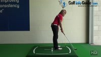 Golf Ball Below Feet, What Should I Change In My Golf Setup? Video - by Natalie Adams