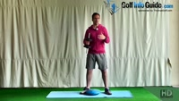 Golf Shoulder Press Balance Exercise Video - by Peter Finch