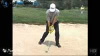 Hinge the Wrist Quickly for Downhill Bunker Shot by Tom Stickney