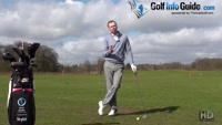 Hit Down On The Golf Ball With Different Clubs Video - by Pete Styles