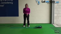 How to Create a Straight Back Straight Through Putting Stroke Women Golf Tip Video - by Natalie Adams