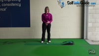 How to Setup for a Cross Handed Putting Grip Style Ladies Putter Tip Video - by Natalie Adams