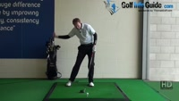 How to leverage your power with downswing squat, Golf Video - by Pete Styles