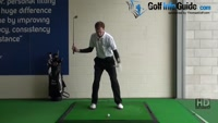 Golf Drill Tip: Irons flying too high - Weight staying back Video - by Pete Styles