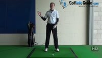 Toe Golf Shot Drill 5: Keep club in front of body at top Video - by Pete Styles