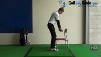 What are stable legs Golf Drill 3 Kneel against a chair Video - by Pete Styles