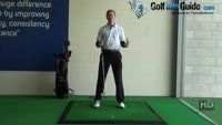 Senior Golfer 1 - Left toe splayed for easier turn, Golf Video - by Pete Styles