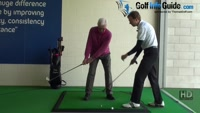 Senior Golfer 6 - Allow a small front knee flex to aid full turn, Golf Video - by Pete Styles