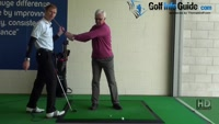 Senior 7 - Allow small front arm bend to aid full back swing, Golf Video - by Pete Styles