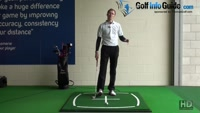 One-Handed Practice Swing Grooves Downward Strike - Golf Tip Video - by Pete Styles