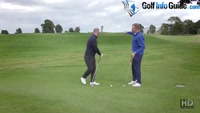 Playing A Golf Ball From A Downhill Sloping Lie - Video Lesson by PGA Pros Pete Styles and Matt Fryer