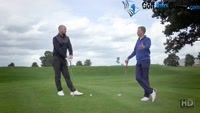 Playing The Ball From Below Your Feet - Video Lesson by PGA Pros Pete Styles and Matt Fryer