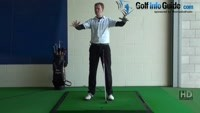 Slice Golf Shot Drill 10 Practice swing on a ball above feet lie Video - Lesson by PGA Pro Pete Styles