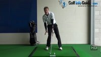 Fat Golf Shot Drill: Right heal up at address and impact Video - by Pete Styles