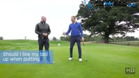 Should I Line My Ball Up When Putting - Video Lesson by PGA Pros Pete Styles and Matt Fryer