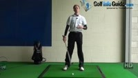 Step Through with Right Foot to Keep Left Side Stable, Golf Video - by Pete Styles