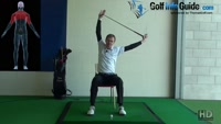 Golf Stretches,  2 Seated Club Over Head Shoulder Stretch Video - by Pete Styles