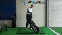 Swing on Plane with Stand Bag Golf Drill Video - by Pete Styles