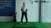 Tee peg under left palm to keep swing shorter, Golf Video - by Pete Styles