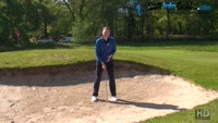 The Correct Swing For A Long Greenside Bunker Shot Video - by Pete Styles