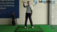 Shorter Golf Swing Drill 5 Two clubs for added weight and control Video - by Pete Styles