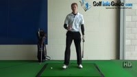 Shank Golf Shot Problem Drill 6: Weight onto heals in follow through Video - by Pete Styles