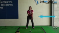 Why and How Ladies should keep their Left Arm Straight during their Golf Swing for Consistency  Video - by Natalie Adams