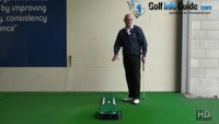 Work on your Putting Fundamentals with the Tee Drill for Square Impact Senior Golf Tip Video - by Dean Butler