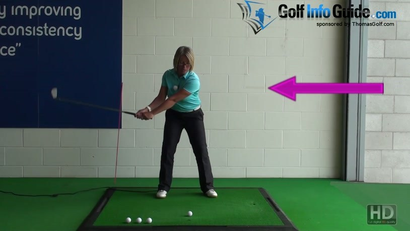 Correct Golf Swing Weight Shift Takeaway and Downswing, Women Golfer Tip  (Video) - by Natalie Adams