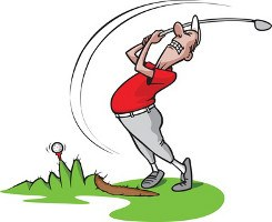 Golfer Miss Swing