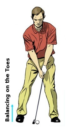 Right Toe Golf Drill