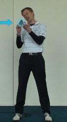 balancing putter on finger