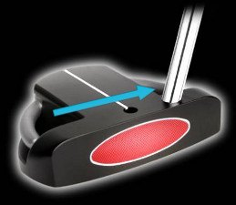 heel shafted putter