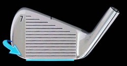 leading edge on a club