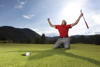 Golfer Winning