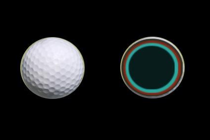 five piece golf ball