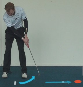 follow through with the putter