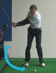 wedge takeaway and backswing 1