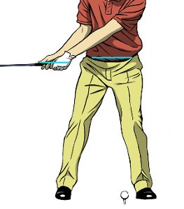 Align Left Arm With Shaft For A Wide Takeaway 1