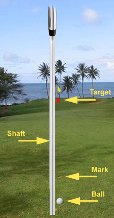 Ball Mark Shaft Target